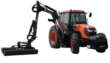 Kubota M108 with 22' Rotary Boom Mower 0